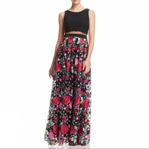 d913aab6 Avery G Illusion Waist Floral Print Gown
